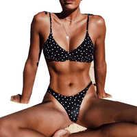 ITFABS Frauen Sommer strand niedrigen taille polka dot Bikini Set Badeanzug Damen Badeanzug Bademode Strand tragen frauen femme