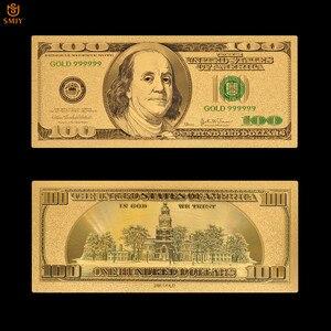 Faux billets de banque en papier monnaie américaine plaqué or 100, 999 dollars, pour Collection, cadeaux, nouveau produit