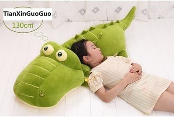 large 130cm green crocodile plush toy soft doll sleeping pillow Valentine's Day,birthday gift b2720