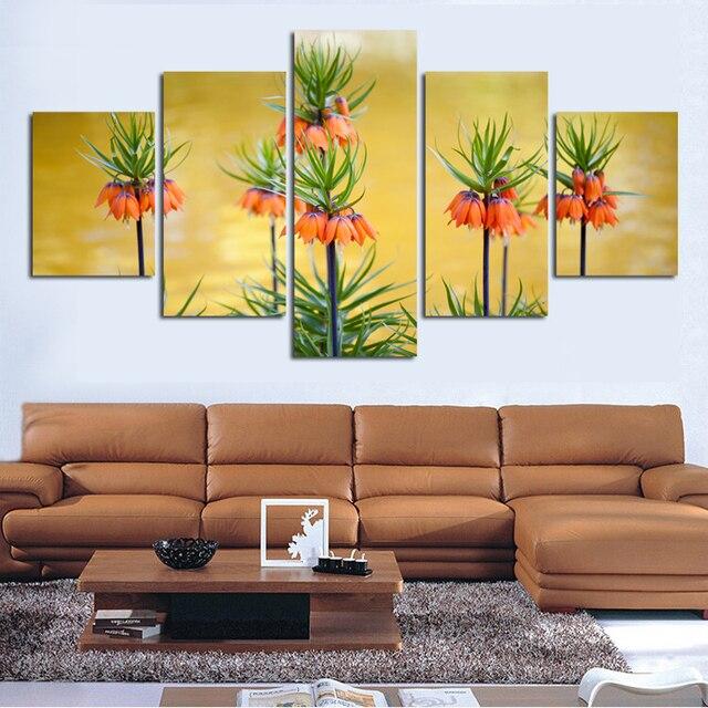 Alta definición impresiones brillante flores sobre lienzo decorar ...
