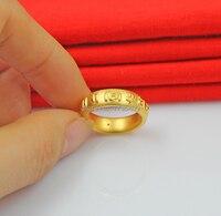 Аутентичные 999 Твердые 24 K кольцо из желтого золота обручальное кольцо Размер США 5