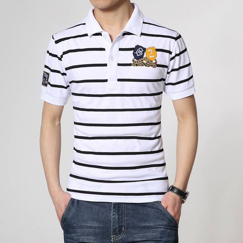 2019 Brand Fashion   Polo   Shirts Short Sleeve Men Summer Cotton Breathable Tops Tee ASIAN SIZE M-5XL