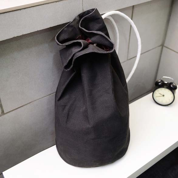 ABDB New Korean Canvas Backpack Large Drawstring Bucket BagABDB New Korean Canvas Backpack Large Drawstring Bucket Bag