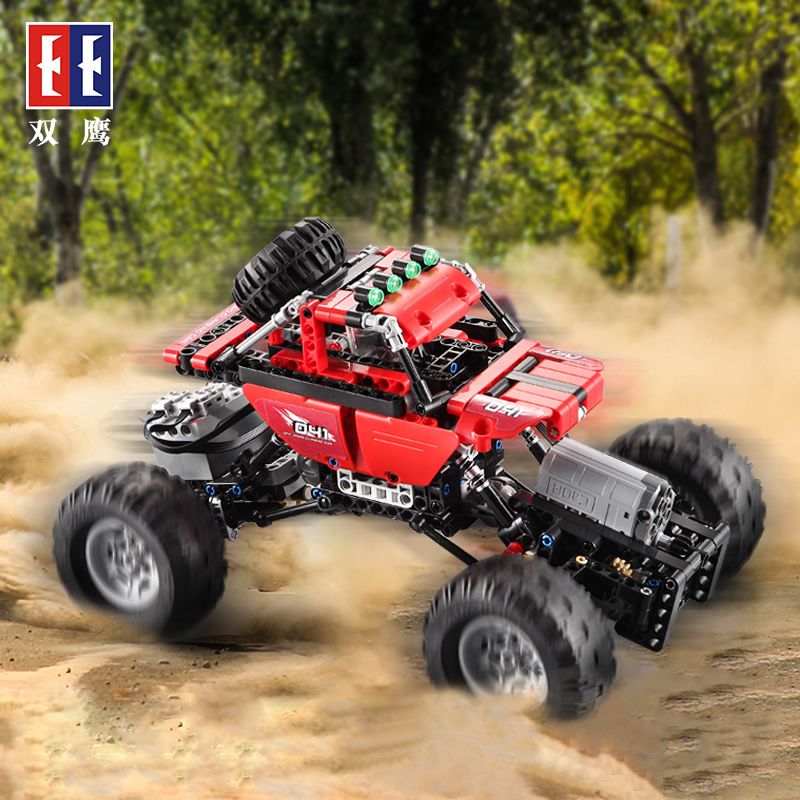 все цены на 2018 Bigfoot Racing Car Remote Control RC Cars Off-Road Vehicle Climbing Truck Technic City Building Block Bricks Model Toys