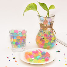 160pc plant Soil Mud Grow Up Water Beads Cute Hydrogel Magic Gel Jelly Balls Orbiz Sea Babies for Vase potted Weeding Decoration(China)