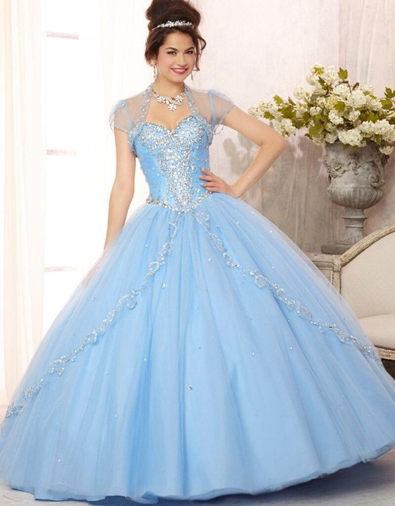 Popular Light Blue Quinceanera Dresses-Buy Cheap Light Blue ...