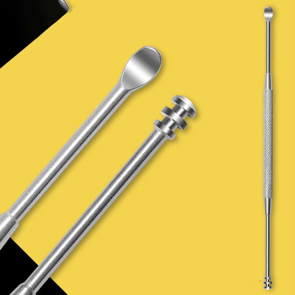 Портативные амбушюры из нержавеющей стали, инструменты для ухода за ушами, безопасные инструменты для очистки ушей