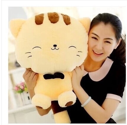 50 cm lovely lucky cat  plush toy smile cat doll throw pillow birthday gift Christmas gift w5927 lovely panda in yellow dress 70cm plush toy panda doll soft throw pillow birthday gift x039