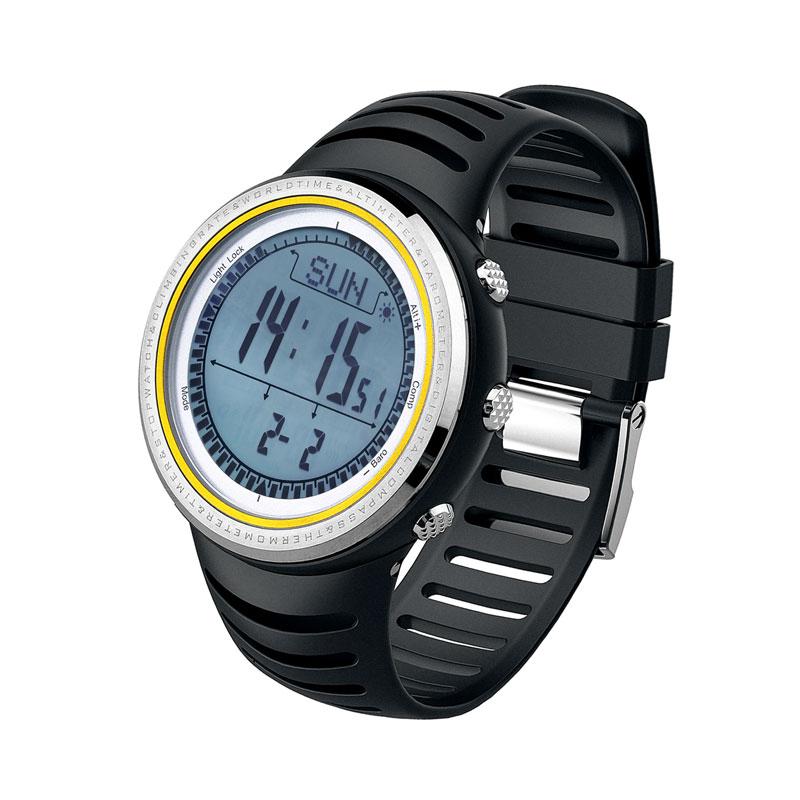 SUNROAD الرجال الرياضة الرقمية Watch 5TM للماء مقياس الارتفاع مقياسا المشي تشغيل السباحة الساعات ساعة البوصلة عداد الخطى-في ساعات رقمية من ساعات اليد على  مجموعة 1