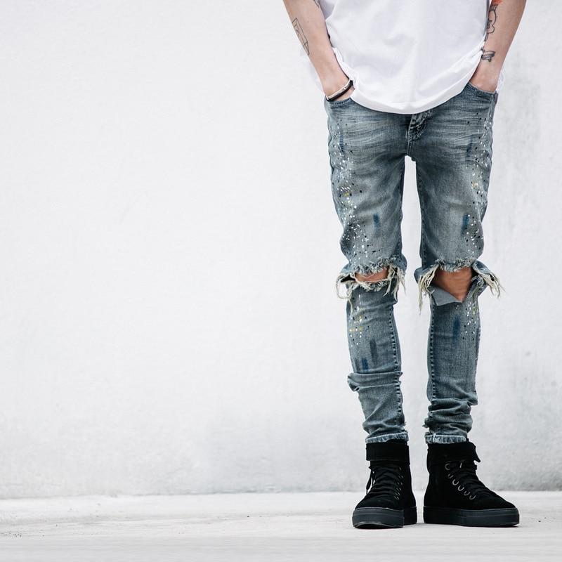 Popular Ripped Denim Jeans for Men-Buy Cheap Ripped Denim Jeans