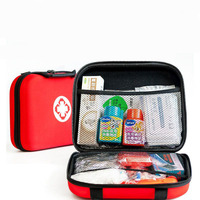 75pcs/lot First Aid Emergency Kit Outdoor Waterproof EVA Pouch For Family Camping Travel Emergency Medical Treatment YJJB005