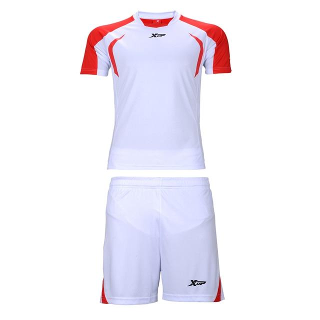 1b8649d2221ba Xtep Nuevos 15 16 hombres Footbal kit Set Hogar Lejos Uniformes de fútbol  Rojo Blanco Jersey