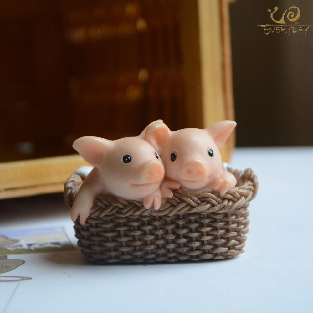 Everyday Collection Home Decor Garden Miniature Animal Figurines Desktop Decoration Cute Pig Figure Toys Gift For Children
