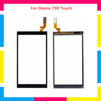 5pcs/lot high quality Touch Screen Digitizer Sensor Outer Glass Lens Panel For HTC Desire 700
