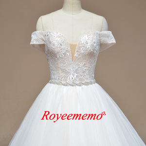 Image 2 - 2019 new design Wedding Dress A line skirt Bridal gown custom made wedding gown factory directly wholesale price bridal dress