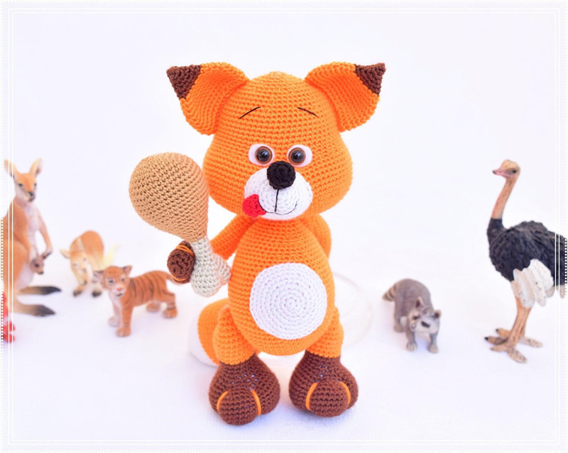 Crochet Toys  Amigurumi  Doll Hungry And Cute Fox Number  WS0037
