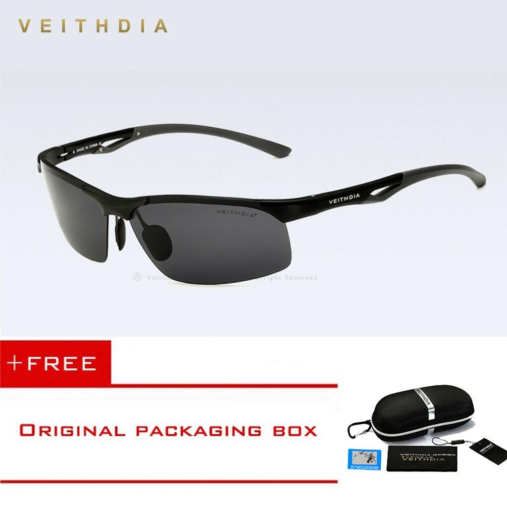d0501d309 VEITHDIA Semi-sem aro de Alumínio E Magnésio Polarizada Óculos De Sol Dos  Homens de Condução Óculos de Sol Acessórios Óculos shades oculos masculino