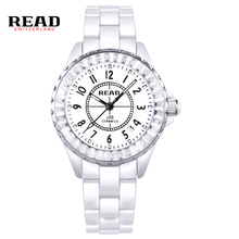 READ watch students Korea fashion watch waterproof quartz watches ceramic table R3002