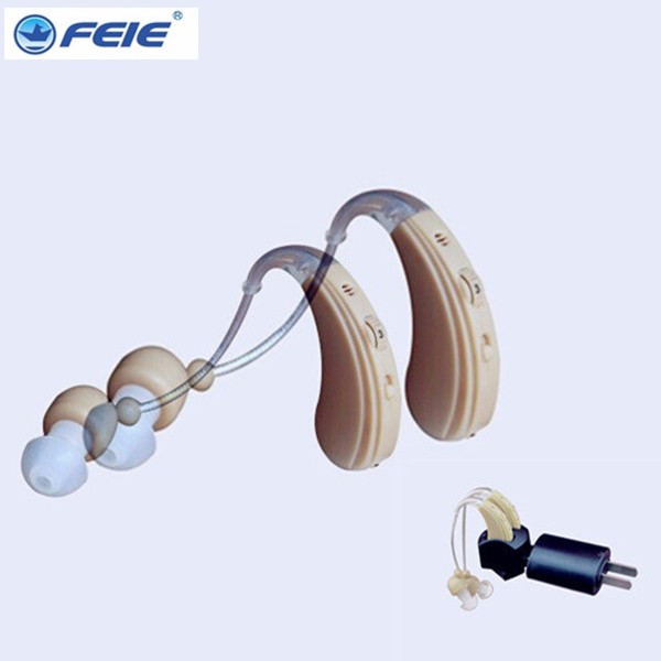 best sound mini BTE recharegable ear hearing aid hearing amplifier for old person S 109S free