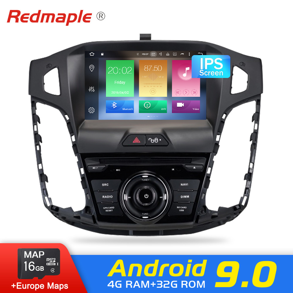 Android 9.0 Car Radio DVD Player For Ford Focus 2011 2012 2013 2014 Audio GPS Multimedia Navigation WIFI Bluetooth Video Stereo