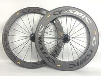 COSMIC 60+88mm Carbon Road Bike Wheels 700C 23mm Clincher Tubular Carbon Fiber Bicycle Wheelset XDB Shipping 1 Year Warranty