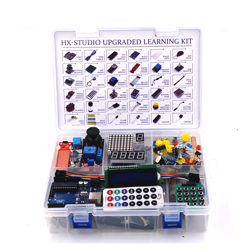 Uno r starter kit for arduino upgraded version