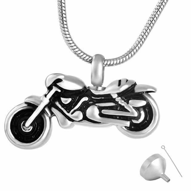 pendant motorcycle with for necklace ash and jck eagle ashes a jewelry chain cremation