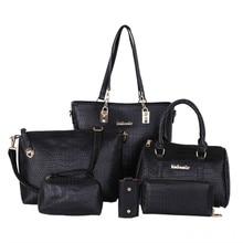 Sac a Main Luxury Women Leather Bags 6PCS/Set Designer Handbags High Quality Bolsos Ladies Casual Tote Organizer Shoulder Bag
