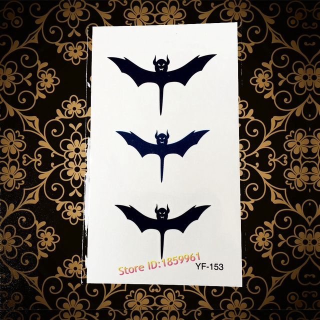 Hot Summer Style Flash Temporary Tattoo Stickers Men Women Arm Neck Tatoo Yf153 Bat Batman Waterproof Tattoos Makeup