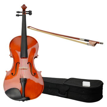 "15"" Acoustic Viola with Viola Case Bow Rosin Musical Instrument Professional Viola for Learners Beginners Black Viola - US Stock"