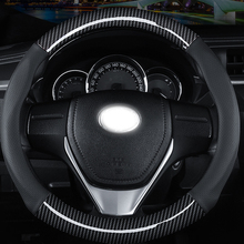 Car Steering wheel Cover Genuine Leather Rubber Steering Cover Hubs For BMW Ford Car Accessories