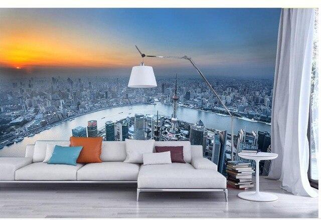 Custom Photo Wallpaper 3d Stereoscopic Shanghai Oriental Pearl