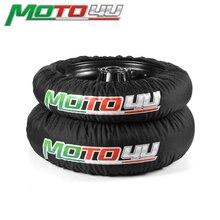 MOTO4U 1 คู่สีดำ 120/165 120/190 120/200 ด้านหน้าและด้านหลัง Universal CE รถจักรยานยนต์การแข่งขันยางอุ่นยางอุ่น