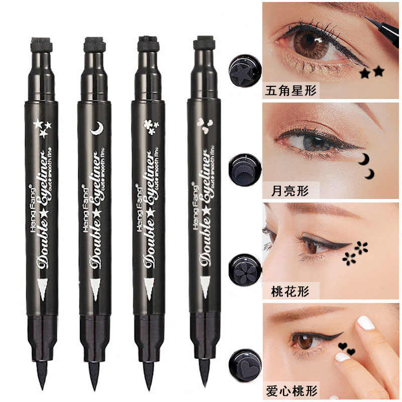 4 типа подводка для глаз двойная головка с уплотнением водонепроницаемый Стойкий черный карандаш для глаз Косметика Красота Макияж инструмент