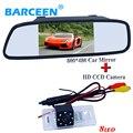 """Hd ccd cámara de visión trasera de visión nocturna 170 gran angular + 5 """"traer pantalla lcd a color espejo del monitor del coche para BMW 3 Series/5"""