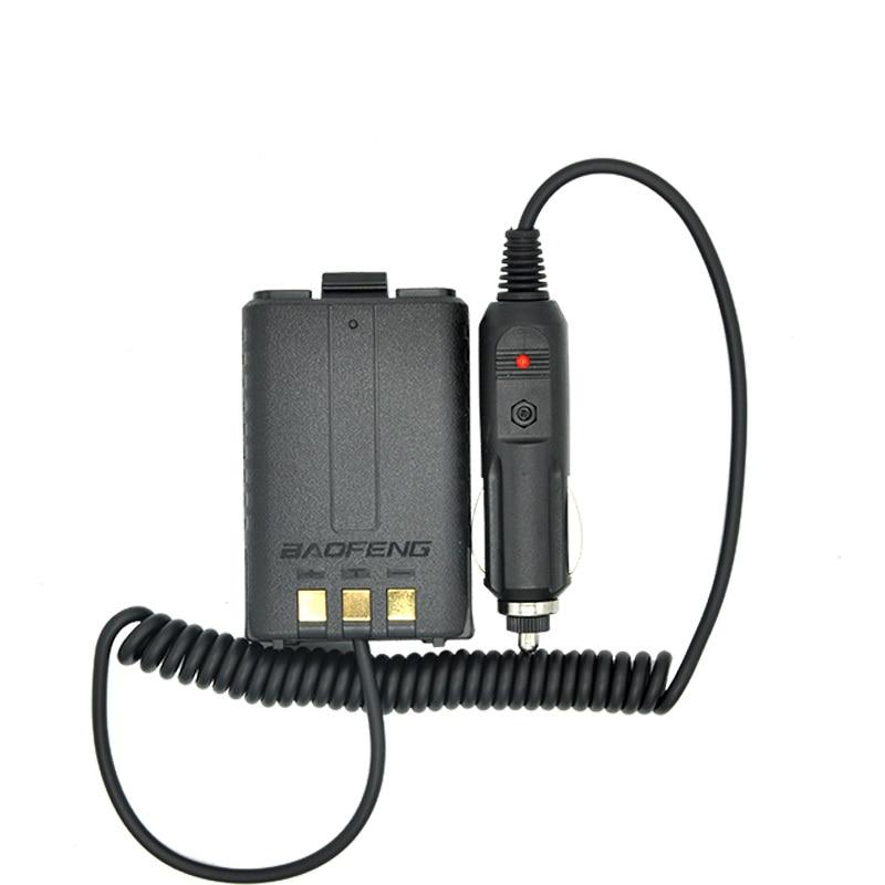 imágenes para Eliminador de batería cargador de coche para radio portátil baofeng uv 5r uv-5ra uv-5rb radio de dos vías walkie talkie accesorios