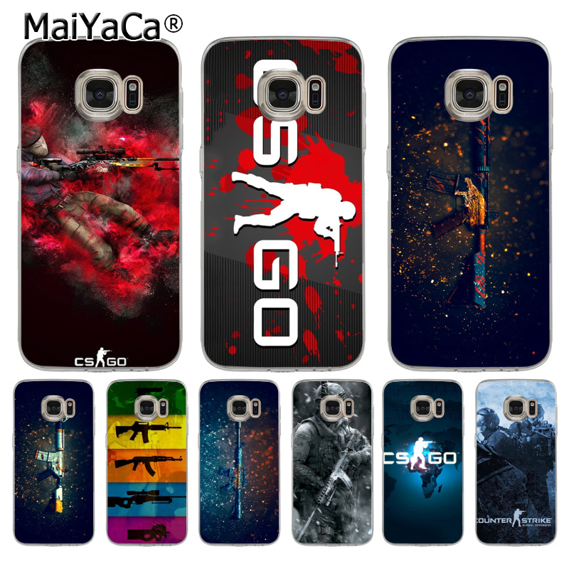 Phone Bags & Cases Cs Go Gun Game On Accessories Phone Shell Covers For Samsung Galaxy S4 S5 Mini S6 S7 Edge S8 S9 S10 Plus Note 3 4 5 8 9 High Quality Goods Half-wrapped Case