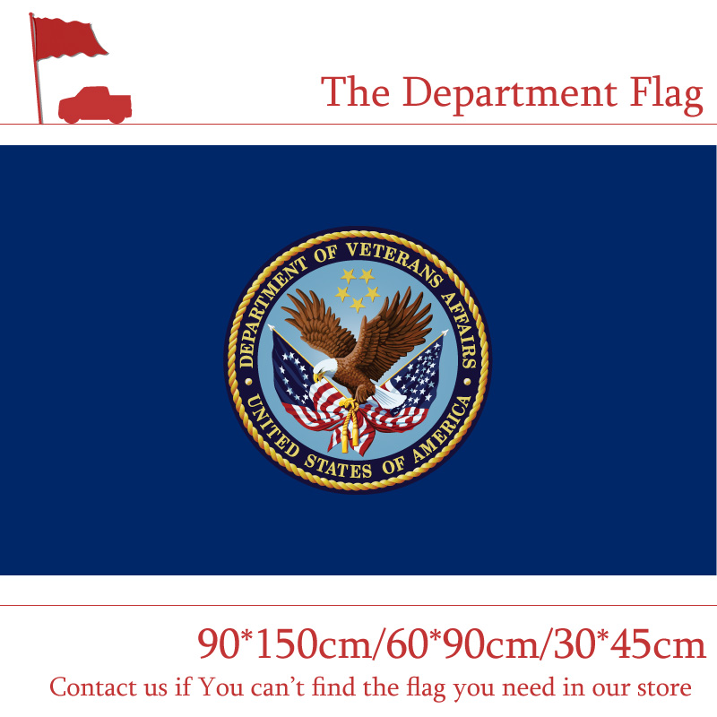 Free shipping 60 90cm The Department Of Veterans Affairs Flag 30 45cm Car Flag 90 150cm 3x5ft Digital Printed Banners in Flags Banners Accessories from Home Garden