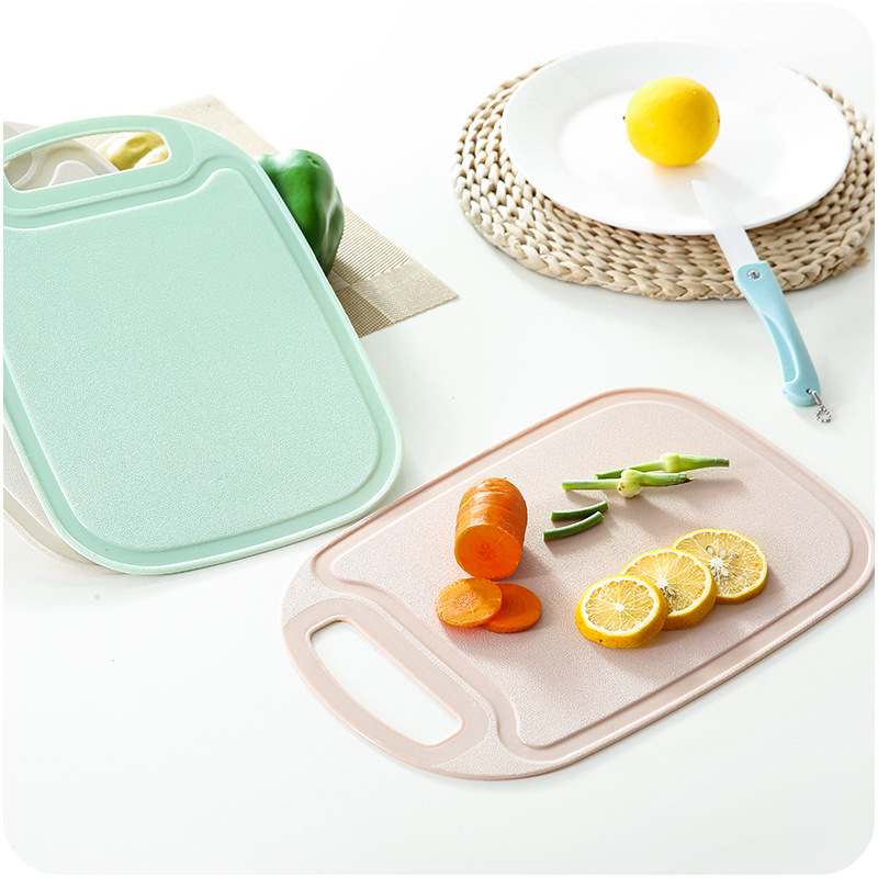 New Kitchen Plastic Chopping Block Meat Vegetable Cutting Board Non slip Anti Overflow With Hang Hole Chopping Board in Chopping Blocks from Home Garden