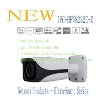 Freies Verschiffen DAHUA CCTV Ip-kamera 2MP FULL HD Sternenlicht IR Gewehrkugel-netzwerkkamera IP67 IK10 Mit PoE Ohne Logo IPC-HFW8232E-Z