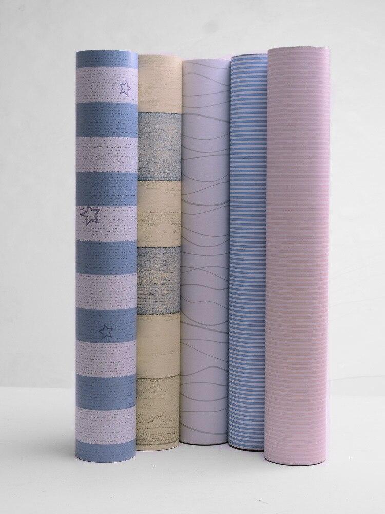 New Furniture Wardrobe Refurbished 100M*45cm Waterproof Moisture Self-adhesive Wallpaper Bedroom Student Dormitory Wall Stickers