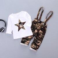 DapChild Autumn Kids Clothes Set For Boy Camouflage Stars Child Clothing Set Brand Long Sleeve Tracksuit