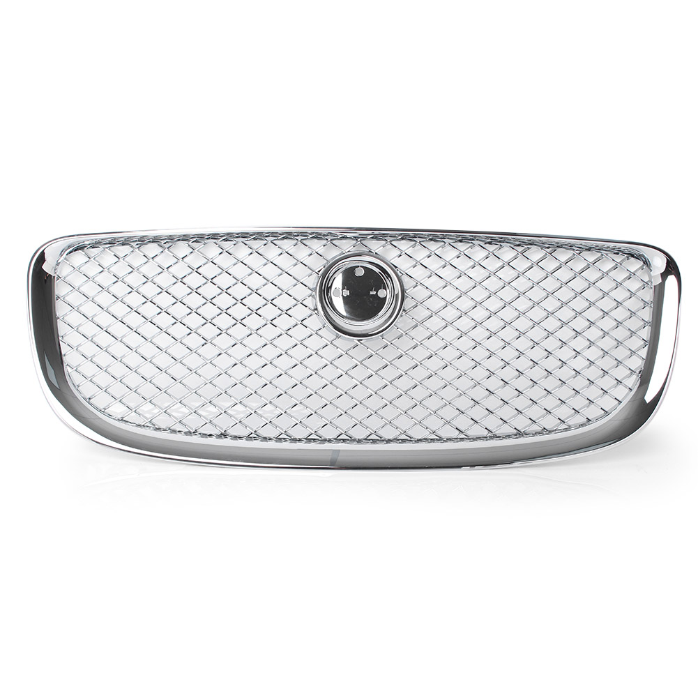 Front Grille Upper Mesh Grill For Jaguar XJ 2010 2011 2012 2013 2014 2015 Chrome Automobile