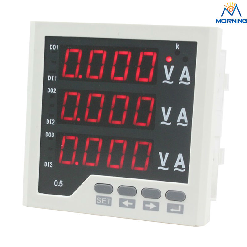 3UIF33 panel size 96*96 3 phase led ac volt ampere and frequency industrial digital combined meter d6 4o panel size 72 72 low price and high quality ac single phase led digital energy meter for industrial usage