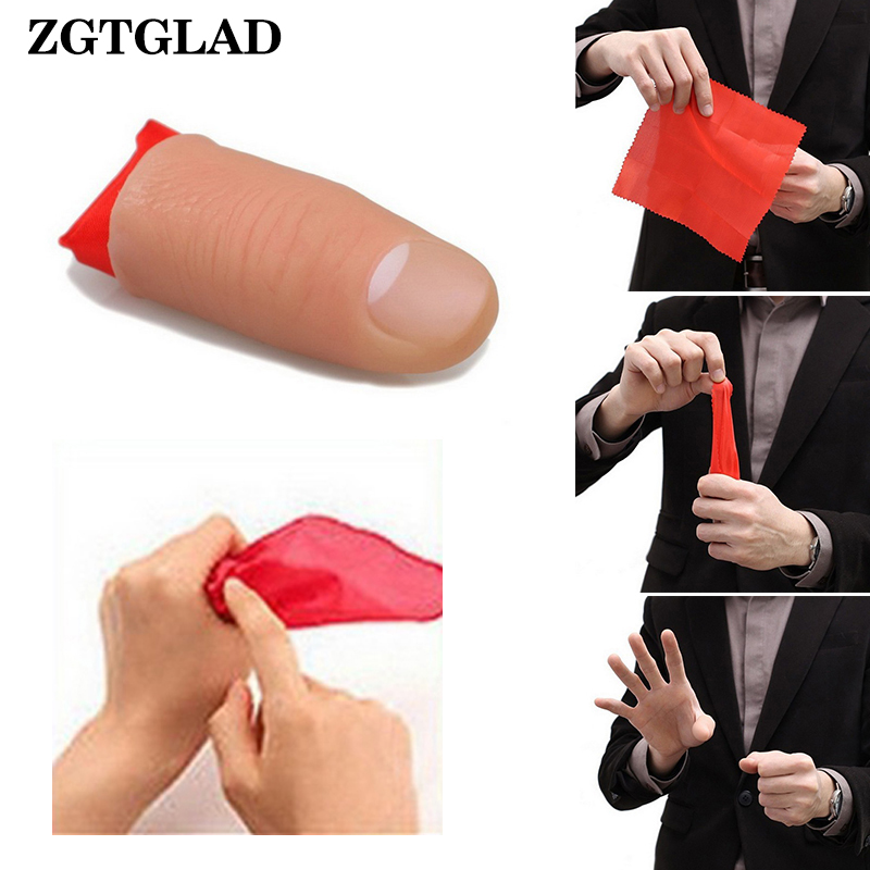 ZGTGLAD Magic Thumb Tip Trick Rubber Close Up Vanish Appearing Finger Trick Props Party Little Gifts New Year Favors
