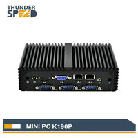Fanless Mini PC Intel Celeron J1900 4 COM Port Serial Port Dual LAN PFsense VPN Router Windows Linux Internal WIFI