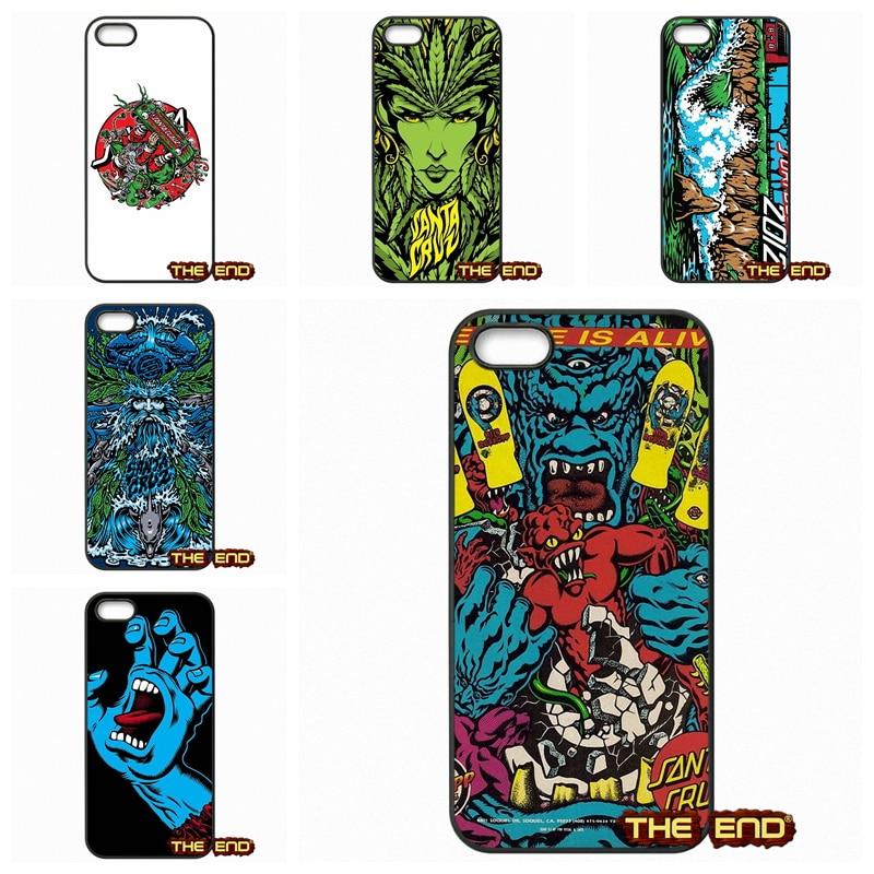 For Samsung Galaxy Note 2 3 4 5 7 S S2 S3 S4 S5 MINI S6 S7 edge Skateboard Skate Santa Cruz Hard Phone Case Cover Capa