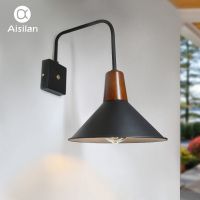 Aisilan Nordic Wall Lamp Modern Style Wall light Adjustable Black for Bed Room Foyer