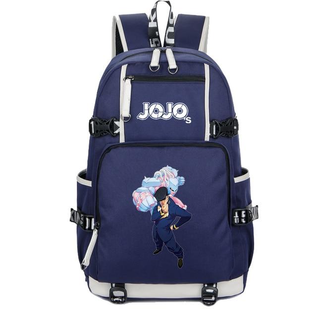 JoJo's Bizarre Adventure Cosplay Luminous Backpack Mochila Feminina Cool cosplay School Laptop Travel Rucksack A71708 3