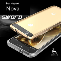 Luphie Mobile Phone Case For Huawei Nova Anti Knock Aluminum Bumper Sticker Back Cover